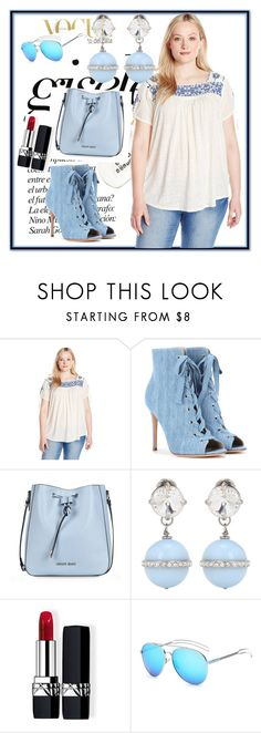 """""""Untitled #136"""" by bosniamode ❤ liked on Polyvore featuring Lucky Brand, Gianvito Rossi, Armani Jeans, Miu Miu and Christian Dior"""