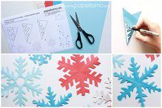 Cómo hacer copos de nieve de papel fácil paso a paso: Una de las manualidades más fáciles que podéis hacer para decorar la casa en ...