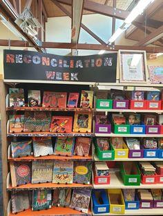Simple display for Reconciliation Week. Display, Simple, Floor Space, Billboard
