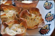 Artichoke & Parmesan Filled Wonton Cups