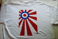 Japan Rising Sun Scooter Mod Flag Shirt