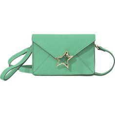 Corto Moltedo Tiffanini ($755) ❤ liked on Polyvore featuring bags, handbags, shoulder bags, green, mint green handbags, crossbody handbag, green leather purse, crossbody purse and crossbody shoulder bags