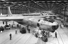 RB-36D Peacemaker on the assembly line at the Convair plant in Fort Worth, Texas