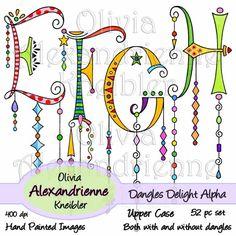 Dangles Delight Alphabet – Upper Case