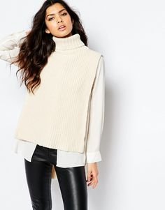 River Island Knitted Roll Neck Tabbard