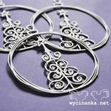 Wycinanka - VÁNOCE / BAŇKY 14 - kartonové výseky Christmas Doodles, Brokat, Scrapbooks, Bracelets, Pretty, Silver, Jewelry, Jewlery, Money