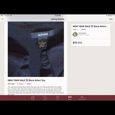 Bundle for HISMRS The black top, the navy blouse, and the 2 pj tops, all per original listings Tops