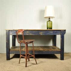 Reclaimed Industrial Table / Kitchen Island - Vintage Industrial - Original House