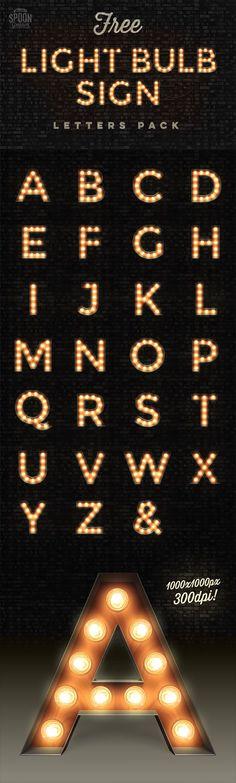 lightbulb signs lettering