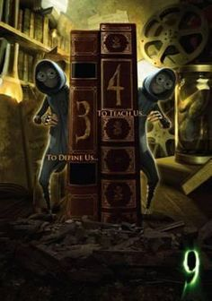 The movie 9 (2009), the Tim Burton film, with the twins 3 and 4 who are historian/librarians who do not speak.  They can't even shush people!