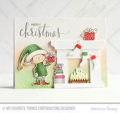 Santa's Elves, Hand Lettered Holiday, Fireplace Die-namics, Santa's Elves Die-namics - Melania Deasy  #mftstamps