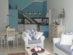 Self catering accommodation, Fish Hoek , Cape Town A beautifully modernised lounge area is always a winner, much like this one. Lounge Areas, Cape Town, Catering, Rest, Luxury, Furniture, Home Decor, Living Rooms, Decoration Home