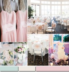 mint and blush 2015 wedding color ideas #tulleandchantilly