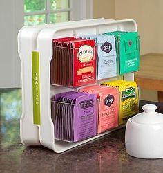 YouCopia TeaStand Tea Bag Organizer, Off-White: Tea Storage Chests Home Organization Hacks, Kitchen Organization, Kitchen Organizers, Cabinet Organizers, Medicine Organization, Closet Organization, Organization Ideas, Bag Rack, Home Organization Tips