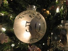 Etched glass Christmas ornament ~Craftster.org