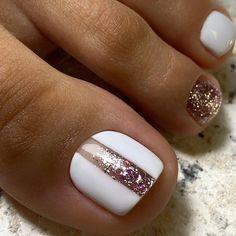 Gel Toe Nails, Feet Nails, Toe Nail Art, Diy Nails, Gel Toes, Shellac Nails, Pretty Toe Nails, Cute Toe Nails, Gorgeous Nails