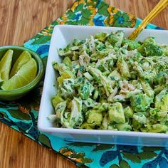 Chicken and Avocado Salad with Lime and Cilantro. I could live on this, I'm not kidding. If you don't care for cilantro, use basil, but I love the cilantro.