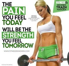 The Pain you feel today is your strength tomorrow.