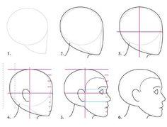 Основы рисования портрета. Пропорции и ракурсы. | Сей-Хай