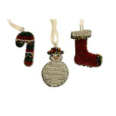 African Novelty Decorations (Set of Three) at Evoke Africa