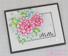 Wplus9 Beautiful Bouquet: Dahlia Stamp Set, Zig Clean Color Real Brush Markers, My Favorite Things Burlap Background Stamp, Kennedy Grace Creations Sequins #wplus9 #beautifulbouquetdahlia #zigcleancolorrealbrush #mft #burlap #kennedygracecreations #sequins #watercolor #flowers #redwhiteandblue