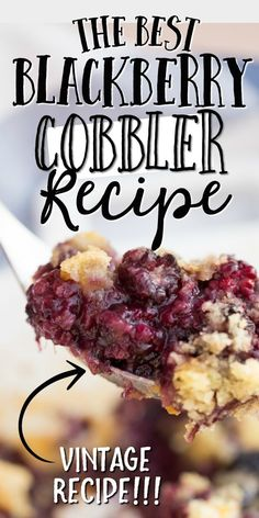 This easy blackberry cobbler recipe is an old fashioned favorite from my grandmother. It's incredibly simple to make and is bursting with flavor. The Best Blackberry Cobbler Recipe, Blackberry Recipes Easy, Fresh Blackberry Cookies Recipe, Blackberry Cobbler Bisquick, Black Berry Recipes, Old Fashioned Blackberry Cobbler, Blackberry Pie, My Recipes, Sweet Recipes