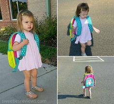 Little sister stole my Crocodile Creek Backpack