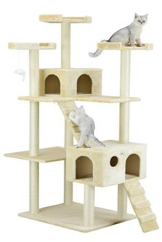Buy Cat Tree House For Large Cats Tower Pet Condo Scratching Post Perch - Blue at online store Cat Tree House, Cat Tree Condo, Cat Condo, Cool Cat Trees, Cool Cats, Cat Tree Plans, Gatos Cool, Tree Furniture, Painted Furniture