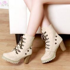 """Specification: Product Details Gender For Women Boot Type Fashion Boots Boot Height Ankle Boot Tube Height 13CM Toe Shape Round Toe Heel Type Chunky Heel Heel Height Range High(3-3.99"""") Closure Type L"""