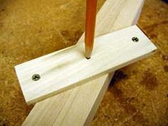 Centering tool. For someday when I need to draw a line down the center of a board. #woodworkingideas