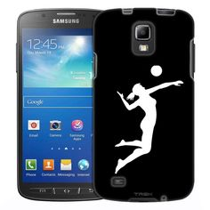 Samsung Galaxy S4 Active Silhouette Volleyball on White Slim Case