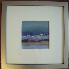 "THOMAS GEORGE:1918-2014 ""Blu Wave"" Framed Modernist Betty Parsons Gallery"