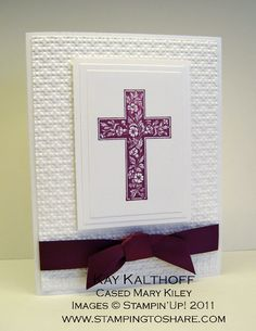 Thursday, March 24, 2011 3/24 Stampin' Up! Crosses of Hope