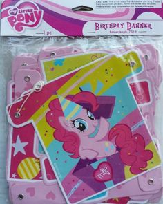 My Little Pony Birthday Banner Measures Feet by American Greetings 4th Birthday Parties, 7th Birthday, Birthday Ideas, My Little Pony Birthday, My Little Pony Party, My Little Pony Pictures, American Greetings, Streamers, Party Supplies