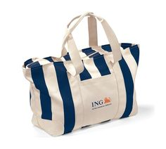 Product: Large Striped Canvas Tote // Gemline