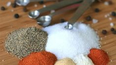 Keep this simple homemade seasoned salt mixture on hand for easy seasoning of meats or vegetables for the grill.