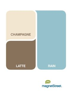 color palette: rain with champagne and latte