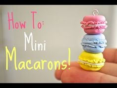 Hello! This is a polymer clay tutorial on how to make these cute mini macaron charms! You can use any colour you like! These are really fun and simple to mak...