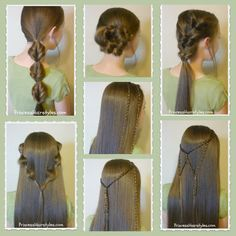 7 quick and easy hairstyles, part 2. Video tutorials.