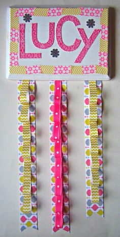 You could use this not only for your hair accessories, but also your earrings as well.  Make one for yourself, just use your favorite colors and fabrics and trim