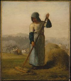 Woman with a Rake Jean-Francois Millet Oil on canvas