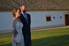 Keka el día de su boda con un vestido de Cortana.