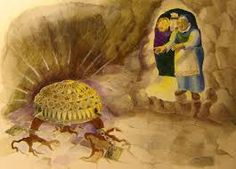 Louhi ja Sampo Kalevala by MayaStudio on DeviantArt Watercolor Pencils, Folklore, Art Lessons, Mythology, Fairy Tales, Deviantart, Painting, Birches, Seas