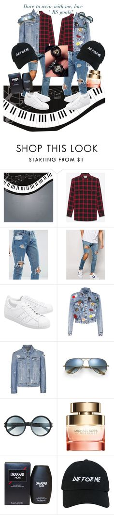 """""""RS goals"""" by albino-mouse ❤ liked on Polyvore featuring Yves Saint Laurent, ASOS, adidas Originals, Alice + Olivia, Topman, Ray-Ban, Tom Ford, Michael Kors, Guy Laroche and Nasaseasons"""