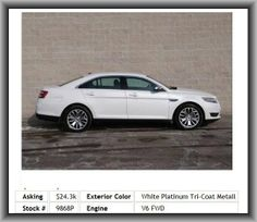 2013 Ford Taurus Limited Sedan  Compass, Wheelbase: 112.9, Cruise Controls On Steering Wheel, Coil Front Spring, Passenger And Rear, Fuel Capacity: 19.0 Gal., Cruise Control, Bluetooth Wireless Phone Connectivity, Privacy Glass: Light, Independent Rear Suspension, Rear Hip Room: 55.8, Cargo Area Light, 035 Lbs., Memorized Settings For 2 Drivers, Front And Rear Reading Lights,