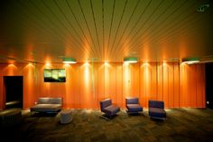 T & R Interior System's Concealed Ceiling Hatches Create Clean Lines in the Deloitte Club Rooms.