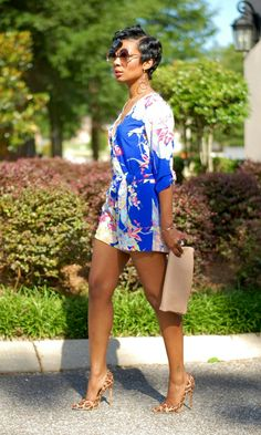 Wild Flower  Shein.com Floral Jumpsuit | Leopard Heel | Express Clutch | Sunglasses Young at Style