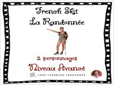 Advanced French Skit - La randonnéeThis is a one page French skit for your students to have fun acting out in class in pairs (the skit has two characters). The title of this skit is La randonnée. This resource is great for adva. A Level French, Gcse French, Lesson Plan Pdf, Network Drive, French Grammar, French Resources, French Teacher, Grammar And Vocabulary, Everyday Activities