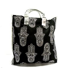 Cotton Bag Black Silver now featured on Fab.