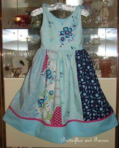 Karen's Butterflies and Faeries: Lovely Melanie's Dress of Blues